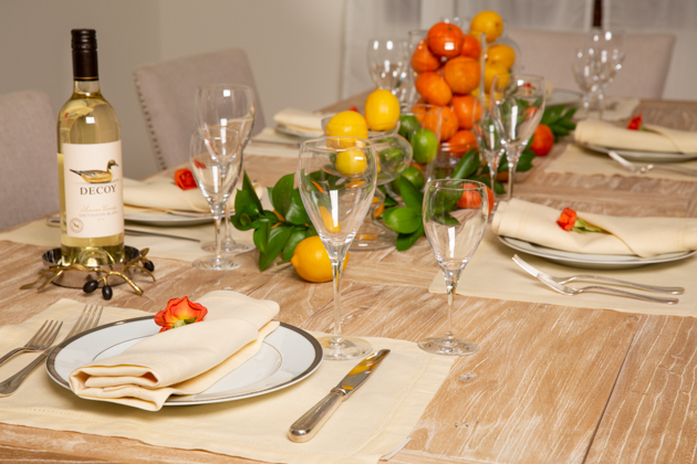 Spring Citrus Tablescape