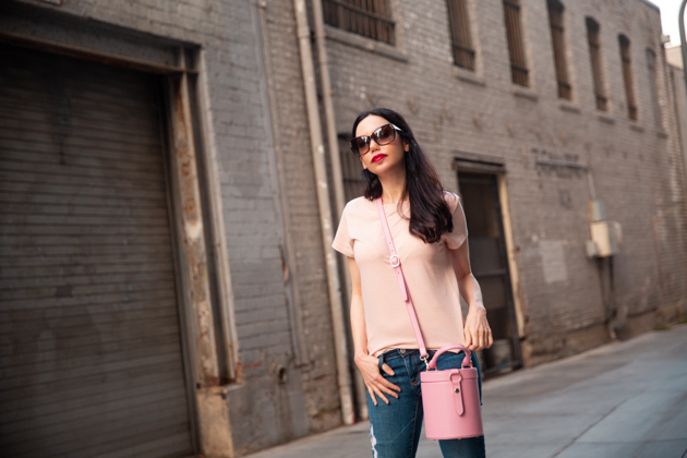 Shades of Pink, Urban Outfitters, AG Jeans, Pink Mules, Schutz, T-shirt style, Denim Style, Jeans and a T Shirt, OOTD, Pink Bag, Who What Wearing, Summer Style, Fashion Trends, What to wear in the Summer, Fashion Blogger Style, OOTD Inspo, street style stalking, outfit ideas, date night look, Fashion Bloggers, Outfit Inspiration, Trends, Outfits, Pretty Little Shoppers, Mo Summers Photography #Summerstyle #fashionblogger #whowhatwearing #ootd #lafashionblogger #schutz #urbanoutfitters