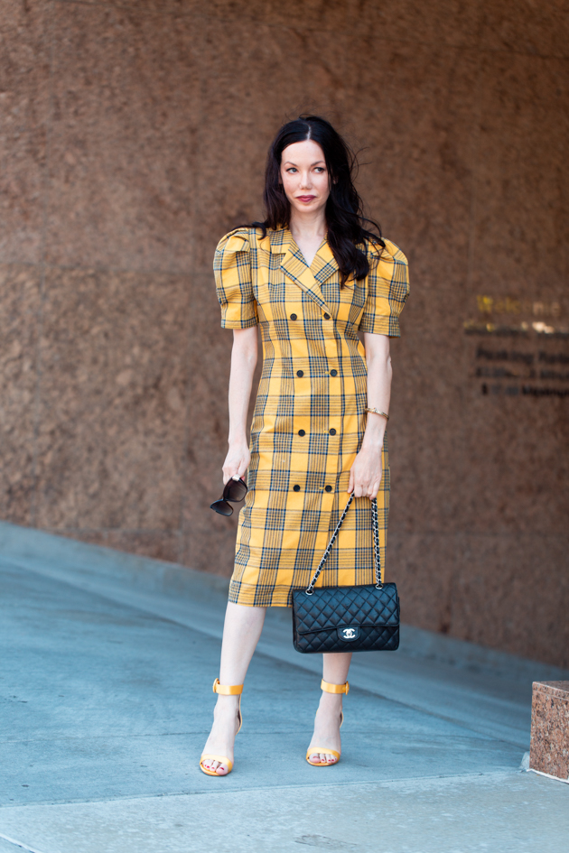 Yellow Plaid, Clueless Style, Fall Trends, Who What Wearing, Fall Style, Mad About Plaid, Tartan Style, Yellow Plaid is Having A Moment, Fashion Blogger Style, Outfit Inspiration, Storets, Raye the Label, Revolve Clothing, Chanel Bag, Personal Style, Fashion, Classic and Feminine with an Edge, Street Style, Street Fashion, OOTD, OOTD Inspo, Street Style Stalking, Seasonal Style, Trends #storetsonme #yellowplaid #cluelessstyle #fashionblogger #lafashionblogger #streetstyle #fallfashion #dresslover