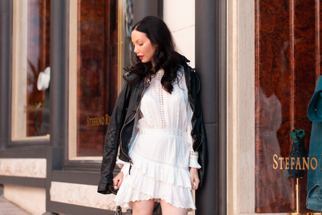 How to Style a White Dress for Fall, Fall Fashion Inspiration, Wearing Right Now, What to wear in the Fall, Love Shack Fancy, Tommy Hilfiger Collection Boots, Fall Trends, Who What Wearing, Fall Style, London Style, Fashion Blogger Style, Outfit Inspiration, Personal Style, Fashion, Classic and Feminine with an Edge, Street Style, Street Fashion, OOTD Inspo, Street Style Stalking, Seasonal Style, Trend #loveshackfancy #fashionblogger #lafashionblogger #streetstyle #fallfashion #whitedress
