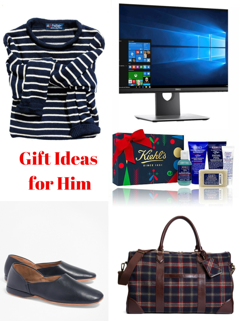 Gift Ideas for Him, Holiday Shopping, All the best sales you need to shop, Gift Ideas, Gift Giving, Sales you need to Know, Holiday Shopping Tips, Fashion Blogger, Fall Fashion, Winter Styles, Christmas Shopping, Pretty Little Shoppers Blog, Shop till you drop, Brooks Brothers, Kiel James Patrick, Dell Gaming Monitor, Tartan Duffle Bag, Men's Slippers #giftsforhim #christmashopping #giftideas #holidayshopping #holidaysales #shoptillyoudrop #kieljamespatrick #brooksbrothers #dell