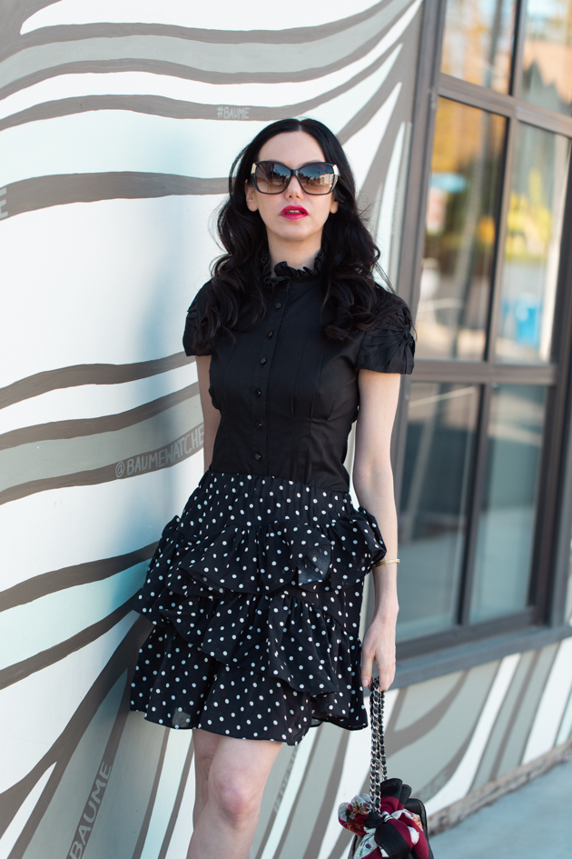 Ruffles and Polka Dots, How to style a ruffle skirt, Spring Fashion Trends, Spring Fashion, What to wear for Spring, Spring Style, Shop till you drop, Classic and Feminine Style, Fashion Influencer, Spring Trends, Who What Wearing, Fashion Blogger Style, Outfit Inspiration, Street Style, Street Fashion, OOTD Inspo, Street Style Stalking, Seasonal Style, Storets, Rachel Zoe Box of Style, Schutz #fashionblogger #lafashionblogger #streetstyle #springfashion #storetsonme #boxofstyle #ruffles