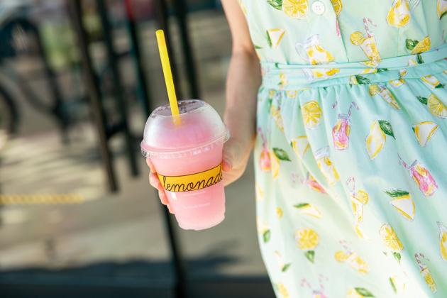 Lemonade Print Dress and Dragon Fruit Frozade
