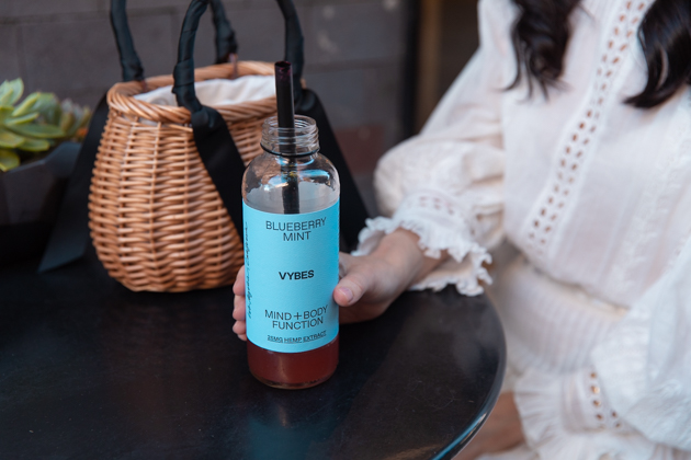 VYBES CBD drink, Alfred Tea Room