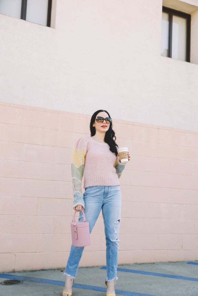 Cozy Pastel Sweater, Sweater Weather, LoveShackFancy, Romantic and Ethereal Style, LPA Bag, Fall Style, What to wear this Fall, Personal Style, Outfit Inspiration, Fashion, Classic and Feminine with an Edge, Street style, street fashion, best street style, OOTD, OOTD Inspo, street style stalking, outfit ideas, what to wear now, Fashion Bloggers, Style, Seasonal Style, Outfit Inspiration, Trends, Looks, Outfits, Pretty Little Shoppers Blog #LoveShackFancy #FallFashion #SweaterWeather #FallStyle