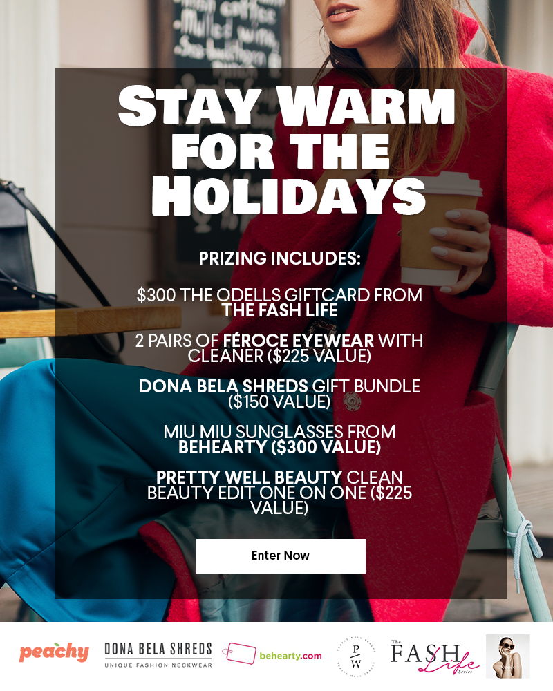 Stay Warm for the Holidays Giveaway, Fashion and Beauty Giveaway, $1200 Value Gift, Miu Miu Sunglasses, The Odells Giftcard