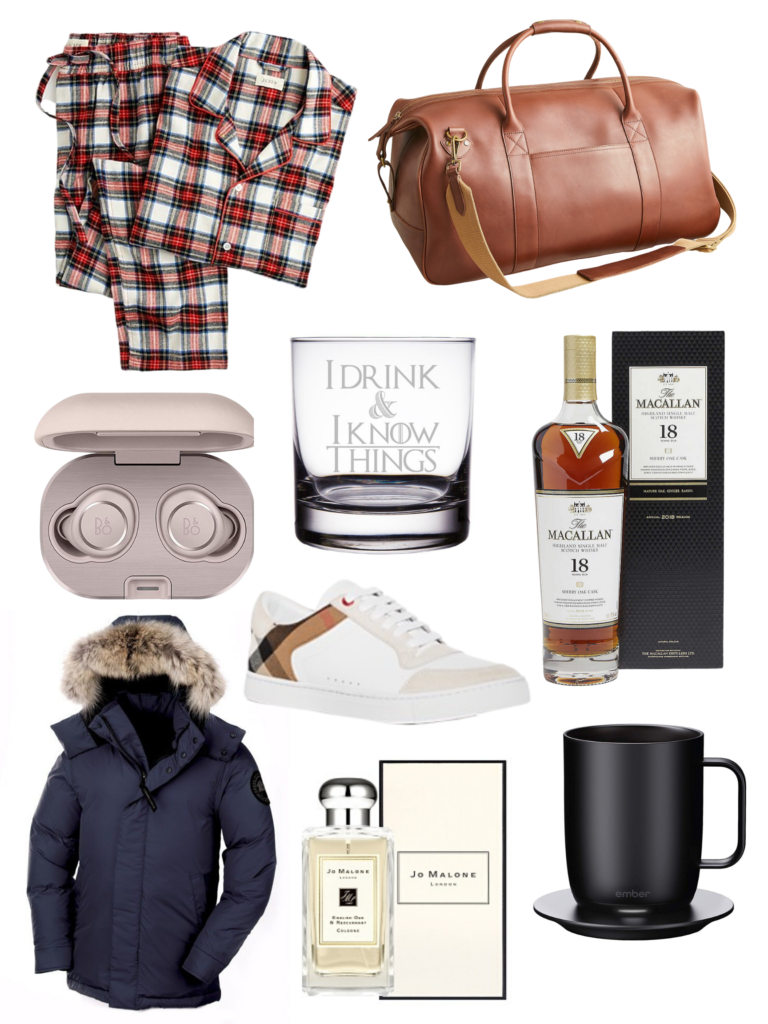 Holiday Gifts for Him, Holiday Shopping, Gift Ideas for him, Sales you need to Know, Holiday Shopping Tips, Fashion Blogger, Fall Fashion, Holiday Shopping Made Easy, Winter Styles, Christmas Shopping, Shop till you drop, Kiel James Patrick, Gucci, Bloomingdales, J. Crew, Theragun, Ember Mug, Macallan Scotch, Burberry, Jo Malone, Tumi, Gifts for Him 2019 #giftsforhim #christmashopping #giftideas #holidaysales #shoptillyoudrop