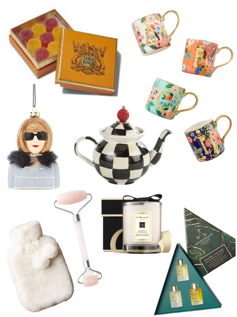 Last Minute Hostess Gifts and Stocking Stuffers, 2019 Holiday Gifts for Her, Holiday Shopping, Gift Ideas for her, Stocking Stuffers, Christmas Shopping, Pretty Little Shoppers Blog, Shop till you drop, Anthropologie, Lord Jones CBD Gummies, Cody Foster & Co Anna Wintour Ornament, Crystal Facial Roller, Jo Malone Candle, Faux Fur Hot Water Bottle, Mackenzie Childs Teapot, Last Minute Gift Ideas  #stockingstuffers #hostessgift #giftsforher #christmashopping #giftideas #holidaysales #shoptillyoudrop