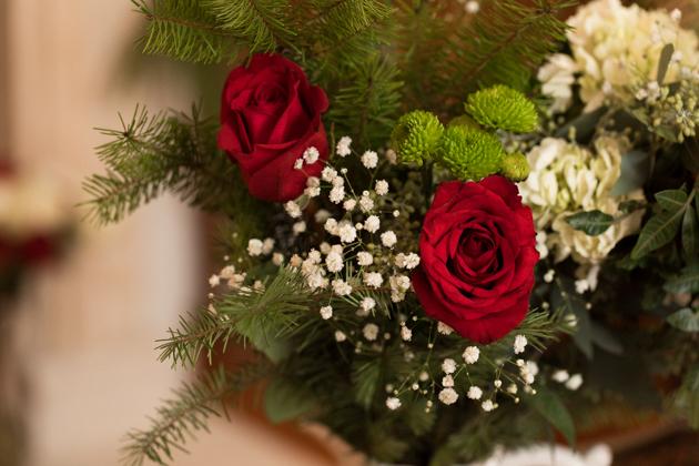 Fresh Christmas Flower Bouquet