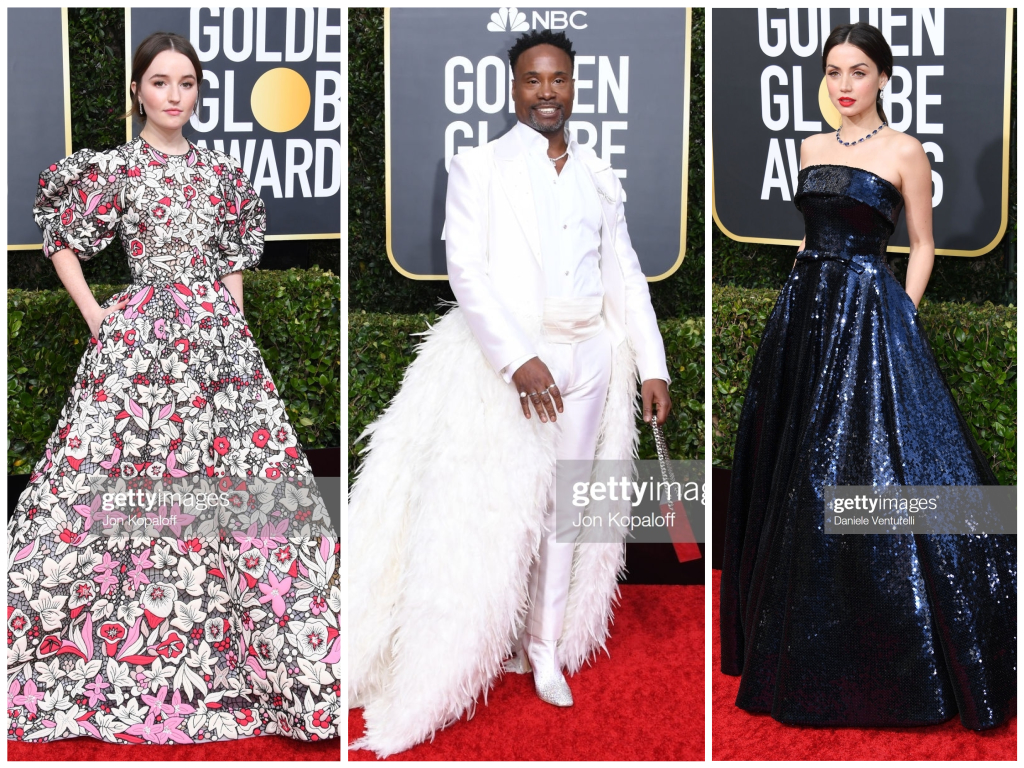 2020 Golden Globes Red Carpet Style featured by top LA fashion blog, Pretty Little Shoppers | 2020 Golden Globes Red Carpet, Golden Globe Awards 2020, Red Carpet Style, Celebrity Style, Celebrity Stylist, Ana De Armas, Billy Porter, Kaitlyn Dever, Valentino Couture, Ralph Russo, Baja East, Evening Gown Style, Red Carpet Roundup #GoldenGlobes2020 #redcarpetstyle #goldenglobeawards #celebritystyle #influencerstyle #redcarpet #eveninggown