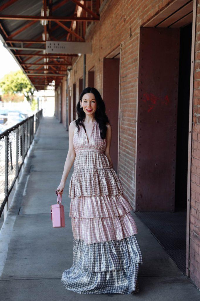 LoveShackFancy Dress styled by top LA fashion blogger, Pretty Little Shoppers