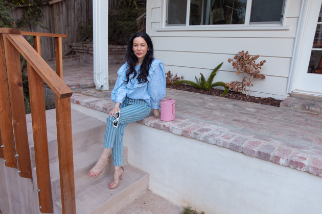 Fall Transitional Look: Pastels, How to style pastels for Fall, LoveShackFancy, LPA the Label, Italic Cateye sunglasses, Pilcro and the Letterpress, What to wear this Fall, Fall Fashion Trends, Los Angeles Fashion Blogger, Pretty Little Shoppers Blog, Lisa Valerie Morgan  #FallPastels #FallFashion2020 #FallTransitionalLook