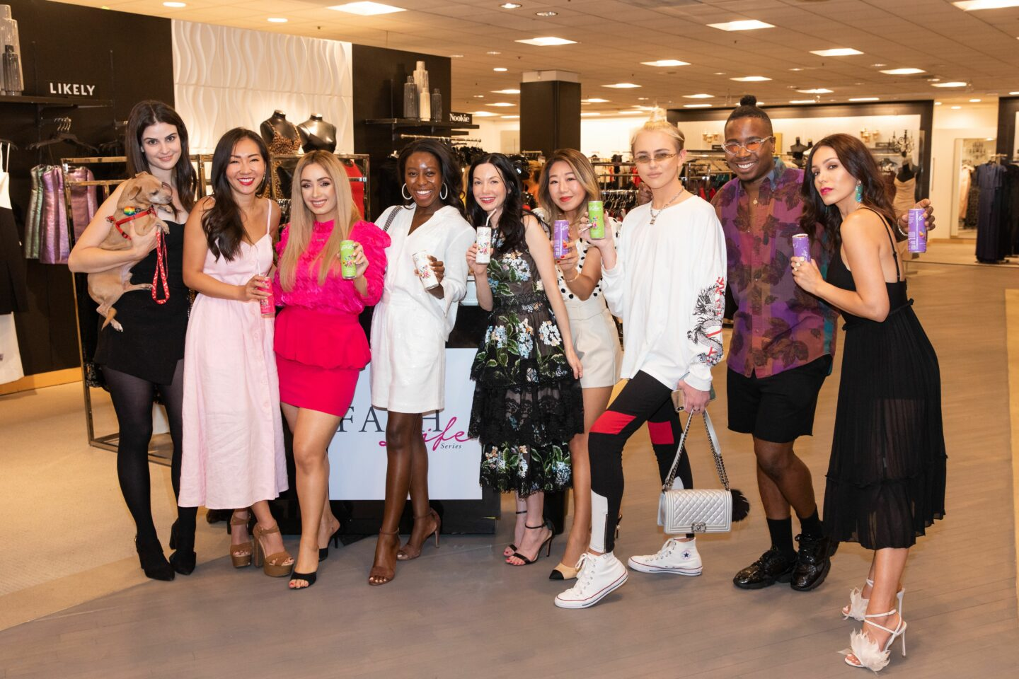 The Fash Life Series Cast Members sip Casa Luigi Prosecco at their Bloomingdale's Beverly Center Sneak Peek Party