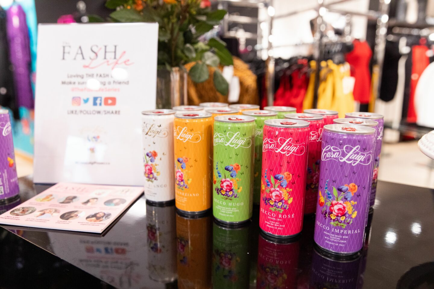 Casa Luigi Prosecco served at The Fash Life Series x Bloomingdale's Beverly Center Sneak Peek Party