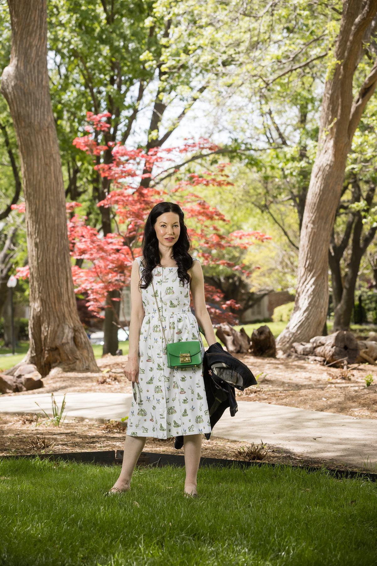 Fashion Blogger, Sundress, Sarah Patrick Collection, Furla crossbody bag