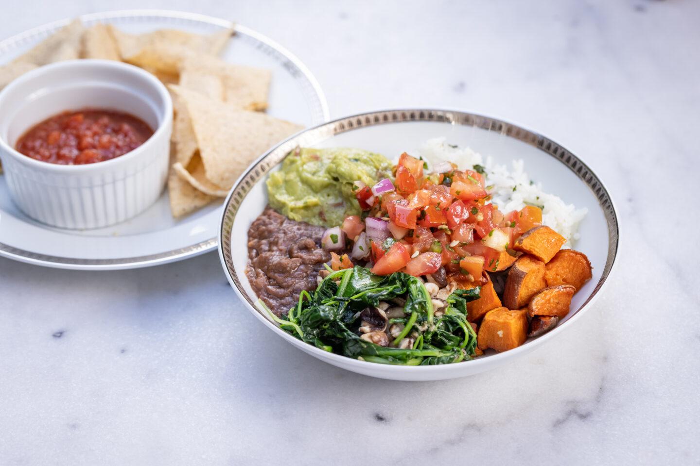 Sweet Potato, Black Bean and Cilantro Lime Rice Burrito Bowl