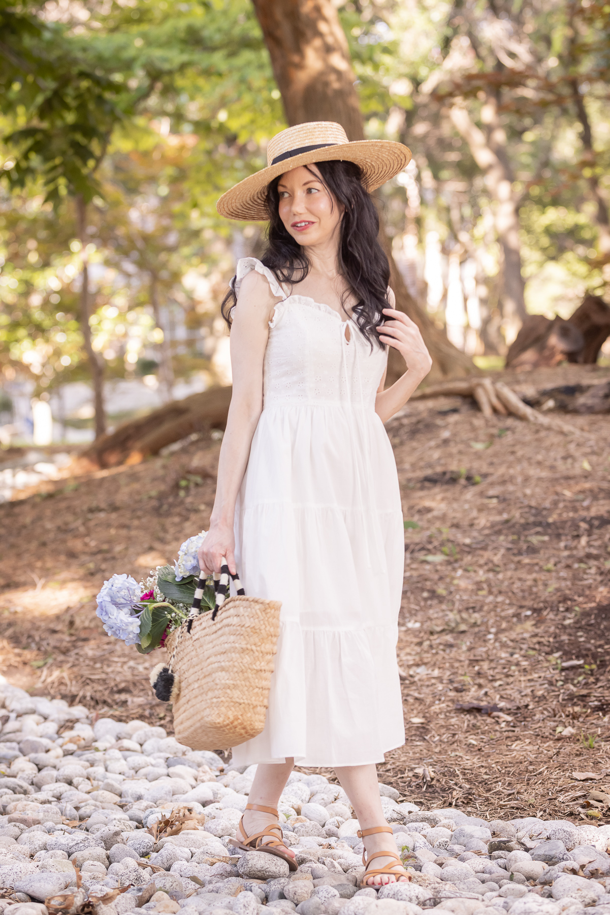 Simple Retro Cottagecore Dress styled by top Dallas fashion blogger, Pretty Little Shoppers
